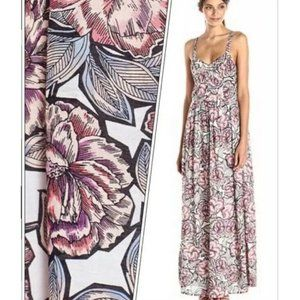 French Connection Bonita Floral Maxi Dress White